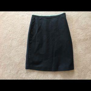 Anthro Elevenses Black Inbox Pleat Pencil Skirt 6